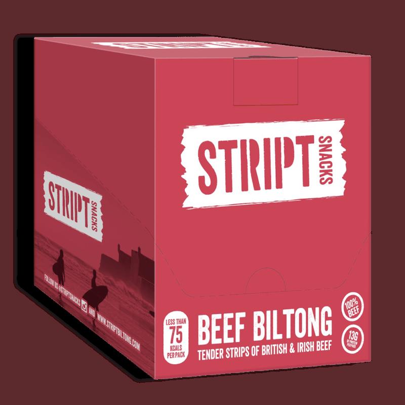 Stript Snacks Beef Biltong Box