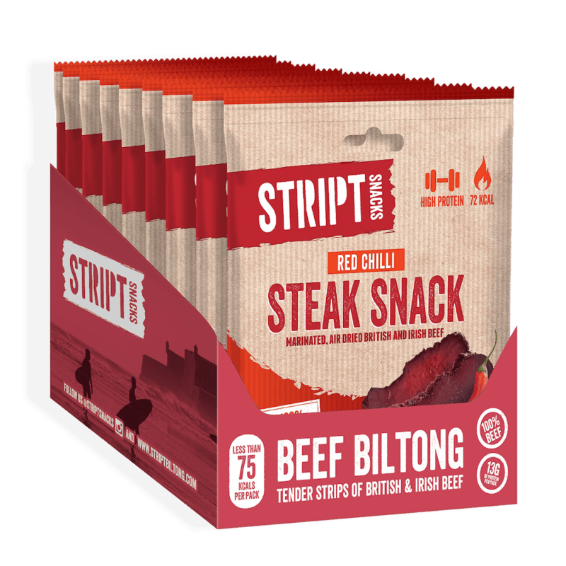 Stript Snack - Red Chilli Steak Snack Box